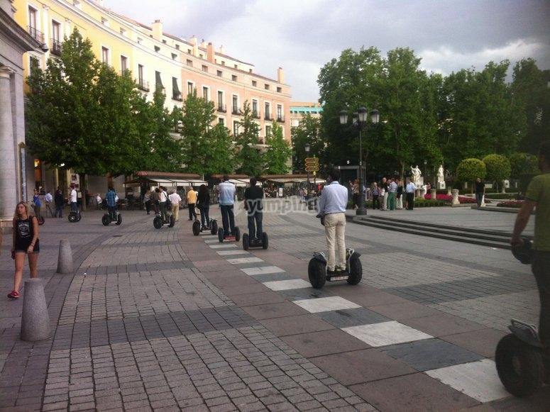 Madrid centro en segway