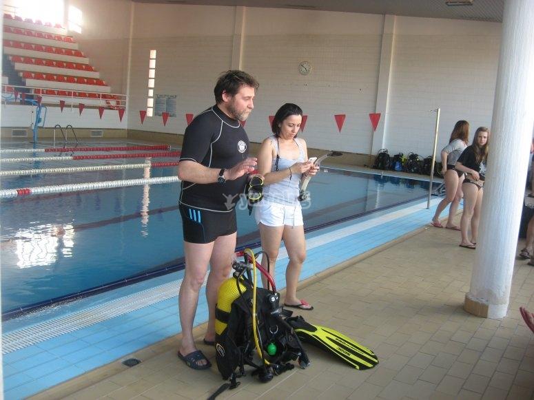 Prácticas en piscina