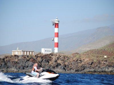 Ruta en moto de agua individual en Los Gigantes 3h