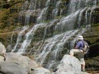 In front of the horsetail waterfall