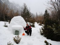 Construction iglu-pineta