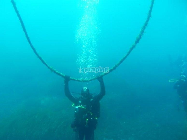 在莱里达海岸潜水