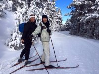 A punto de esquiar