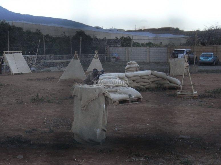Partida de paintball para residentes en Tenerife