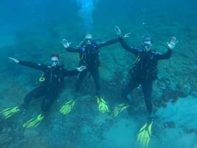 Diving Sea Baptism and kayaking in Costa Dorada
