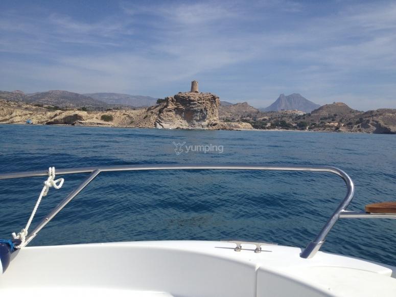 VIstas dalla barca