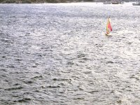 Windsurfer alone and quiet