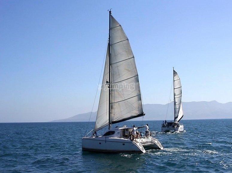 Fin de semana en un catamarán