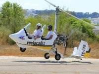 Volando en autogiro
