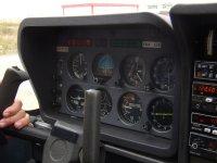 panel de control avioneta