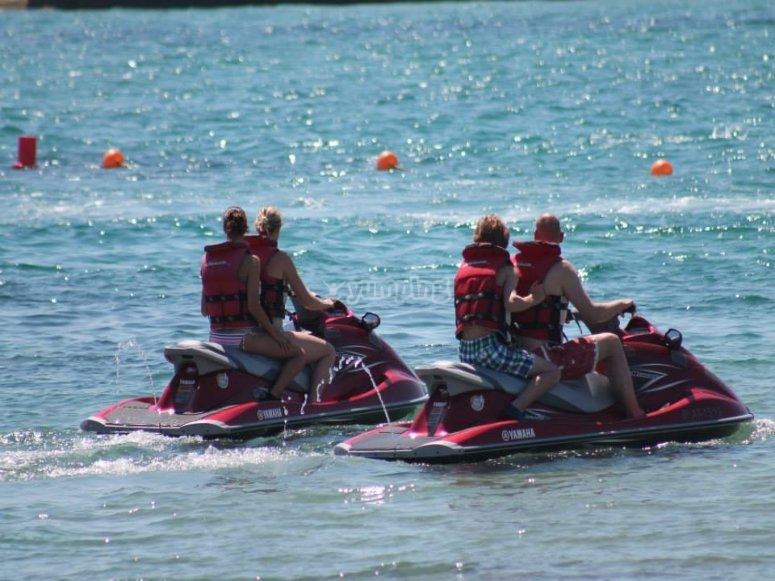 In pairs with the jet-ski