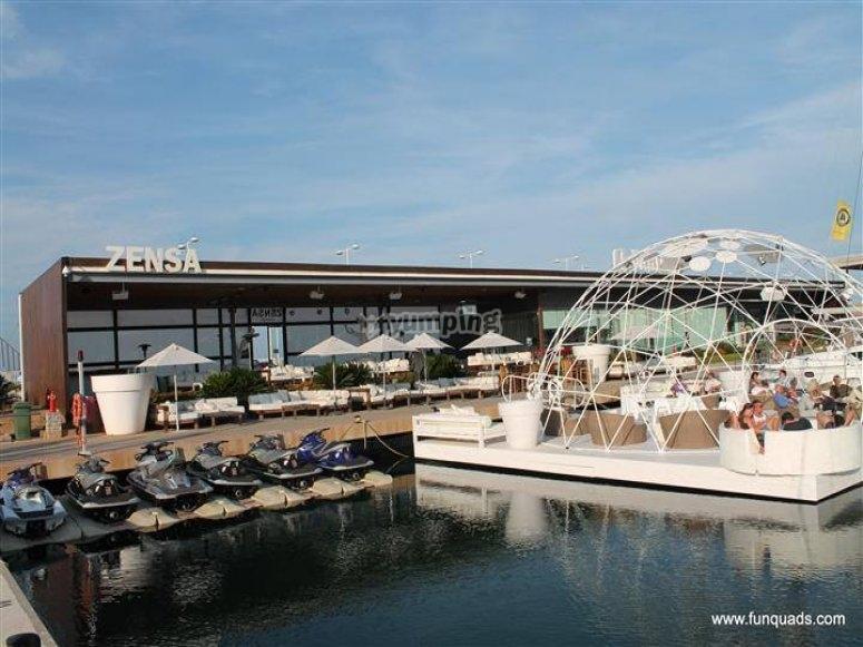 At Denia's port