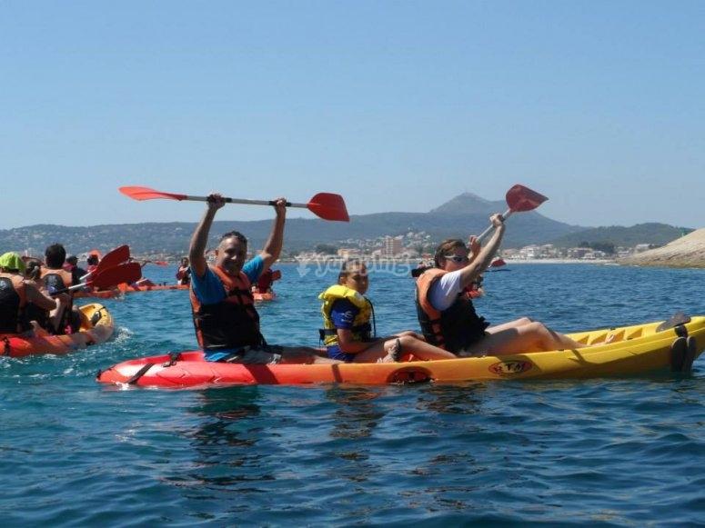 Raising the paddles