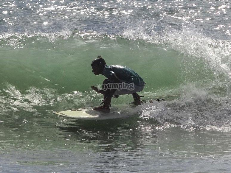 Cogiendo una buena ola