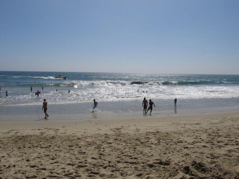 Zona de practica de surf