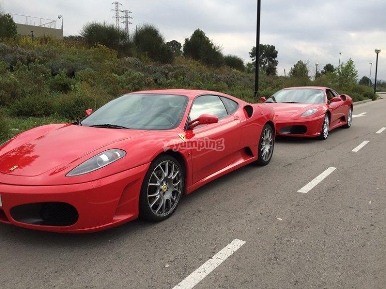 Ferrari sull'asfalto