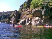 Canoeing in the reservoir of El Atazar
