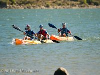 Competing in canoe