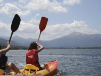 Tandem canoe in Lozoya