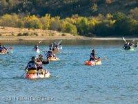 Remando con la canoa