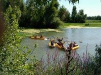 Remando con kayak indiviudal
