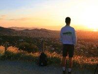 日出美丽的日落