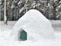 Iglu in the snow