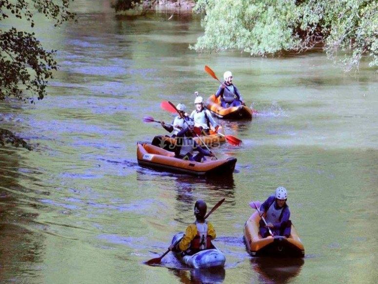 En las canoas