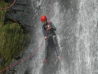 Rappel in the canyoning