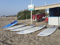 Materiale sup nello Yacht Club
