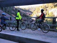 Ciclismo en la antigua vía de ferrocarril