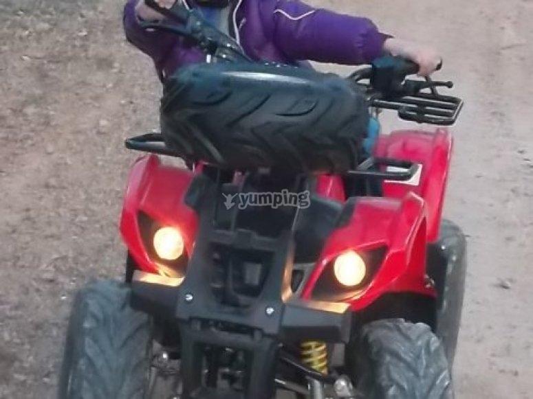 Ruta en quad electrico