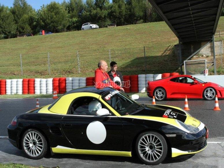 Pilotando Porsche Boxster en Cheste