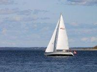 乘风驱动的船