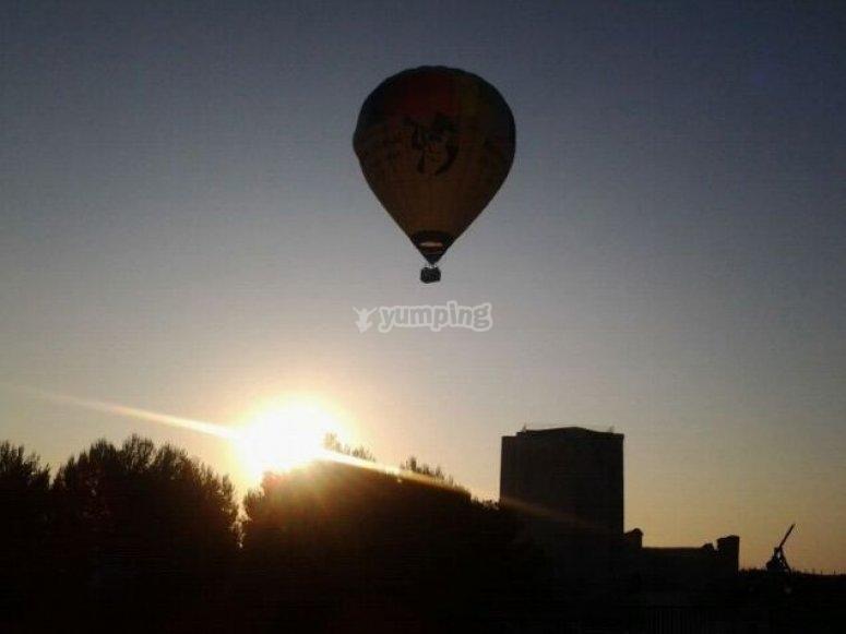气球乘坐塞戈维亚