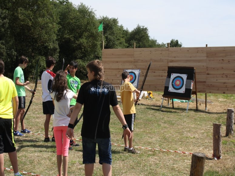Trying archery and arrows
