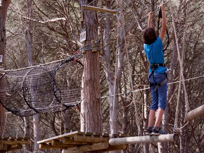 Treetop adventure for adults in Costa Brava