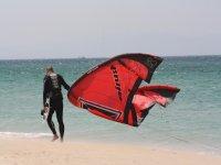 Te dejaremos todo el material de kitesurf