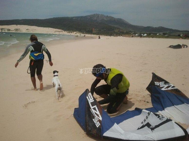 塔里法集团风筝冲浪课程