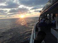 Puesta de sol desde el barco