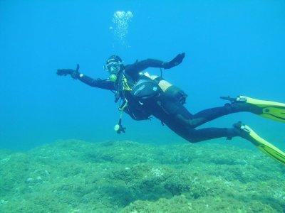 Inmersión de buceo con botella, en La Restinga