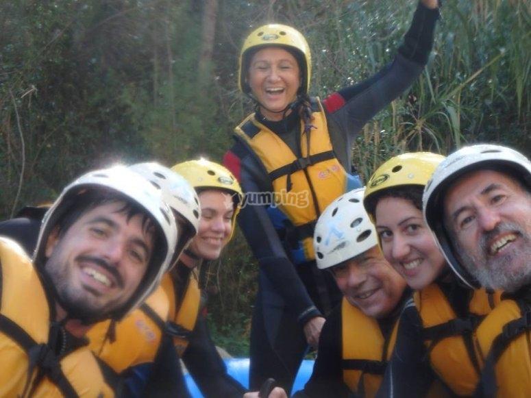 Partecipanti al rafting