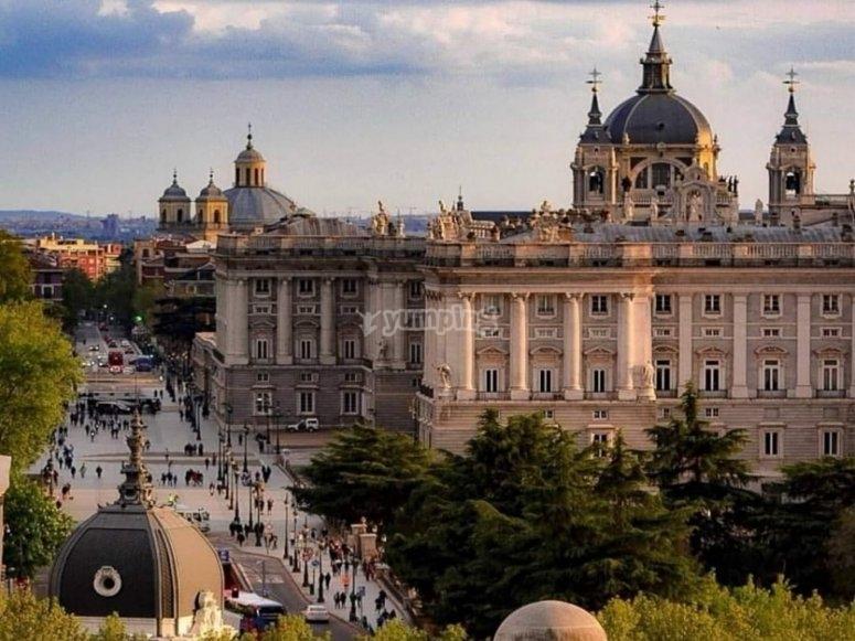 Panorámica Palacio Real en Madrid