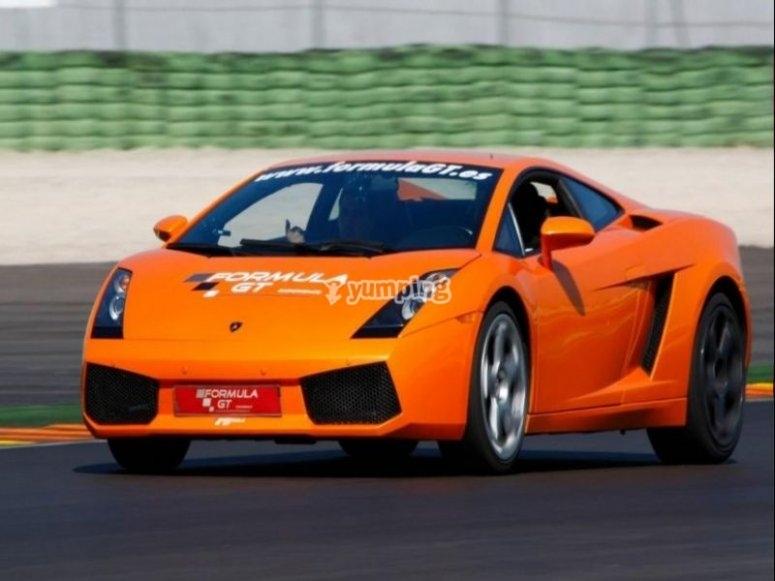 Lamborghini en el circuito