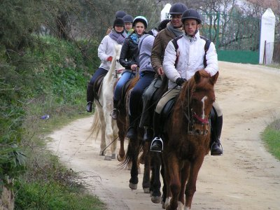 Ruta a caballo + tiro con arco + mini golf