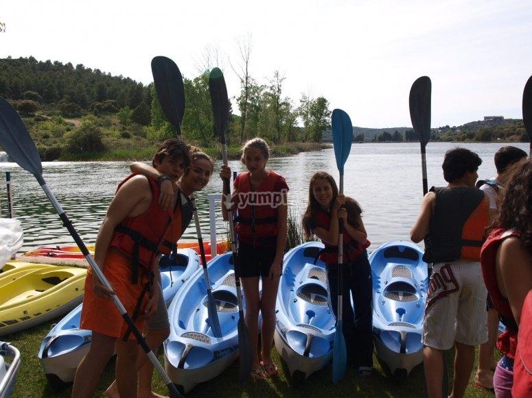 Pronti per il giro in kayak