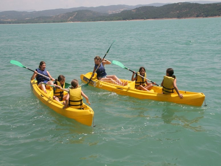 Kayak route for families in Barasona