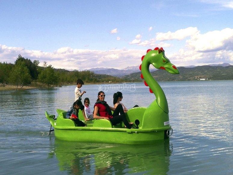 Alquiler hidropedal dragón Pantano de Barasona