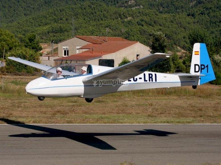 Aterrizaje con planeador