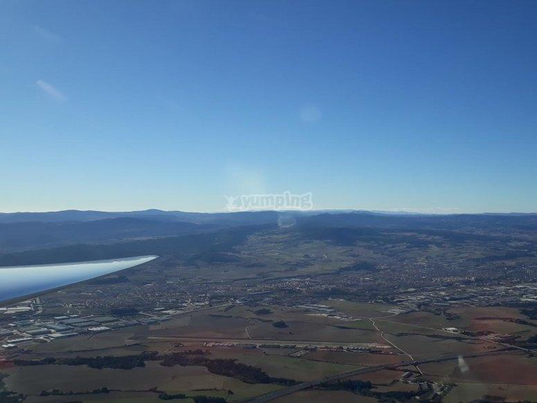 Paisaje de Ódena desde el aire